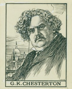 G K Chesterton, born May 29, 1874.